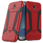 Slim Guard Plated Shockproof Case for Samsung Galaxy J7 Pro - Red